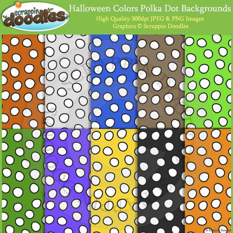 Halloween Colors Polka Dot 12x12 Backgrounds Download