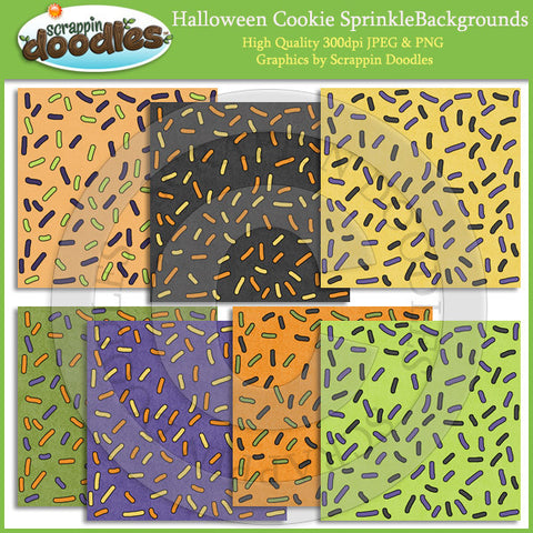 Halloween Cookie Sprinkle Backgrounds Download