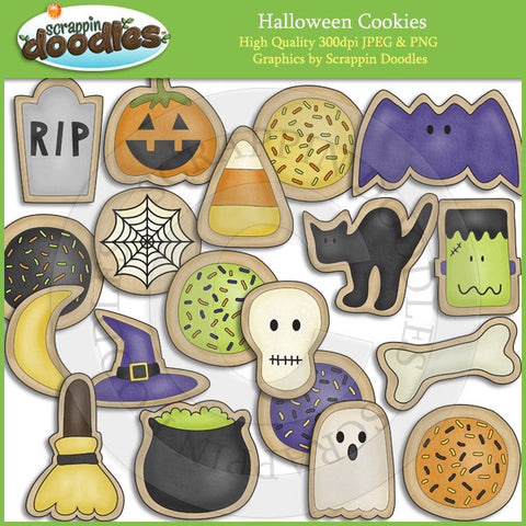 Halloween Cookies Clip Art Download