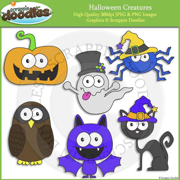 Halloween Creatures Clip Art