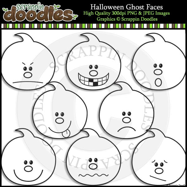 Halloween Ghost Faces