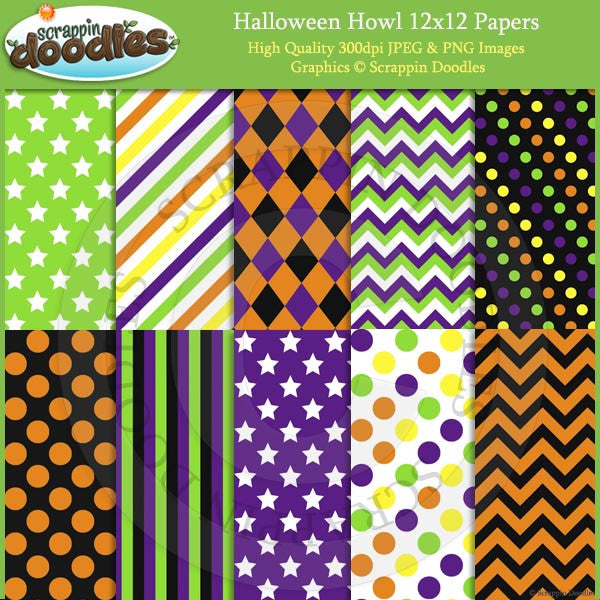 Halloween Howl 12x12 Backgrounds Download