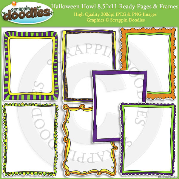 Halloween Howl 8 1/2 x 11 Ready Pages & Frames