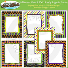 Halloween Howl 8 1/2 x 11 Ready Pages/Cover Pages & Frames