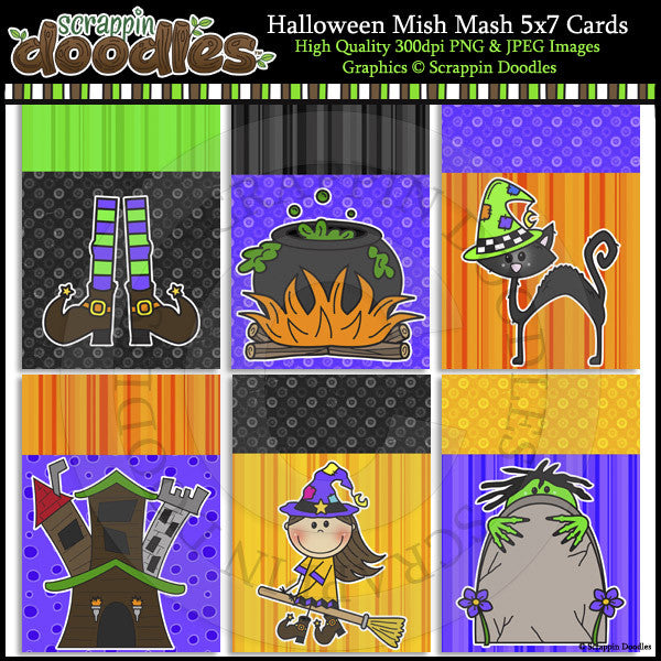 Halloween Mish Mash 5x7 Card Fronts