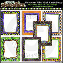 "Halloween Mish Mash 8.5""x11"" Ready Pages/Cover Pages & Frames"