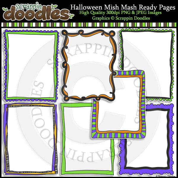 Halloween Mish Mash 8-1/2 x 11 Ready Pages