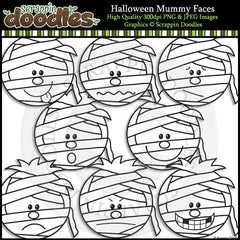 Halloween Mummy Faces