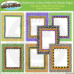 Halloween Polka Dot 8 1/2 x 11 Ready Pages/Cover Pages & Frames