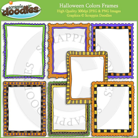 Halloween Polka Dot 8 1/2 x 11 Ready Pages & Frames