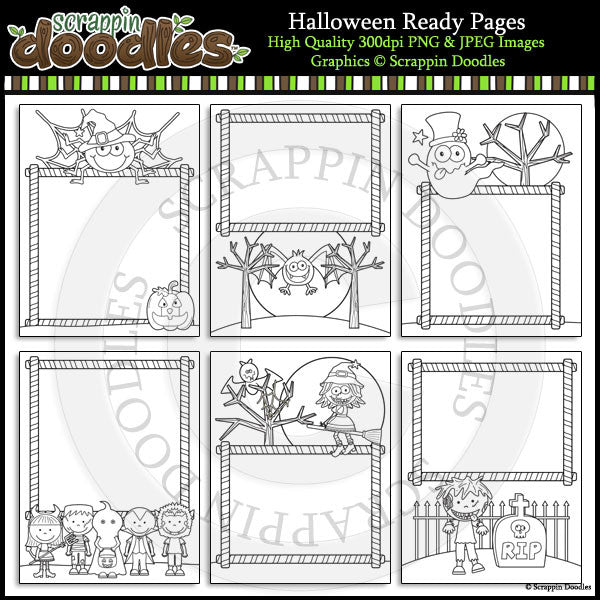 Halloween 8 1/2 x 11 Ready Pages