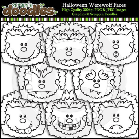 Halloween Werewolf Faces