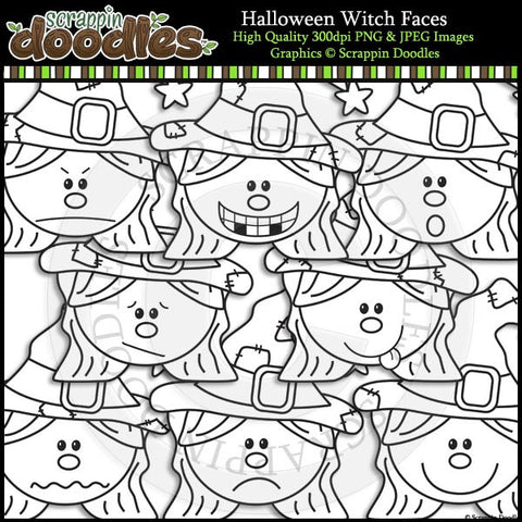 Halloween Witch Faces