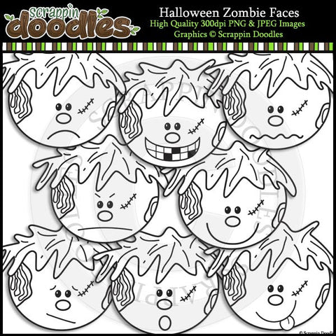 Halloween Zombie Faces