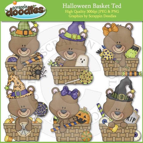 Halloween Basket Ted Clip Art Download