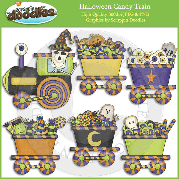 Halloween Candy Train Clip Art Download