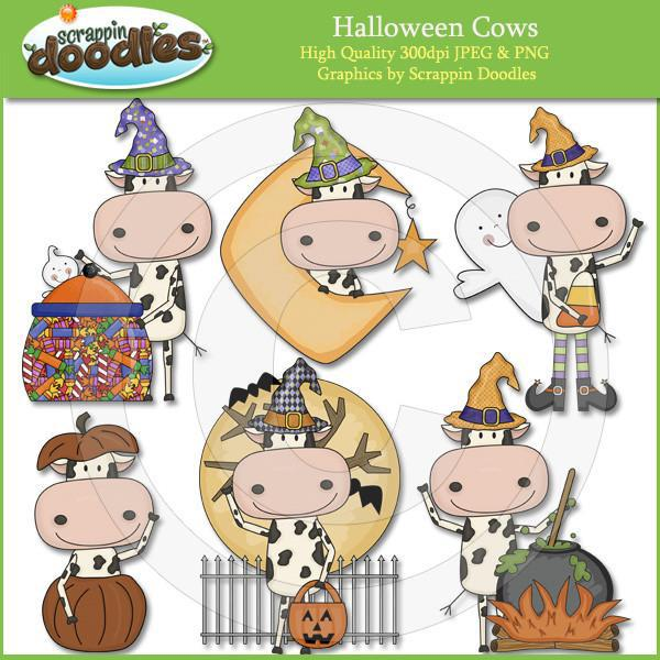 Halloween Cows Clip Art Download