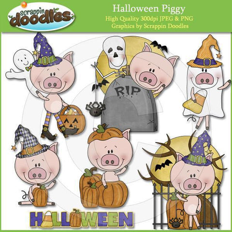 Halloween Piggy Clip Art Download