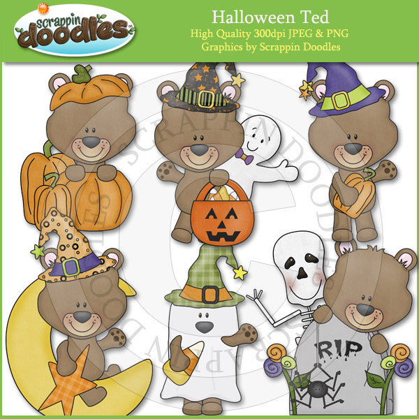 Halloween Ted Clip Art Download
