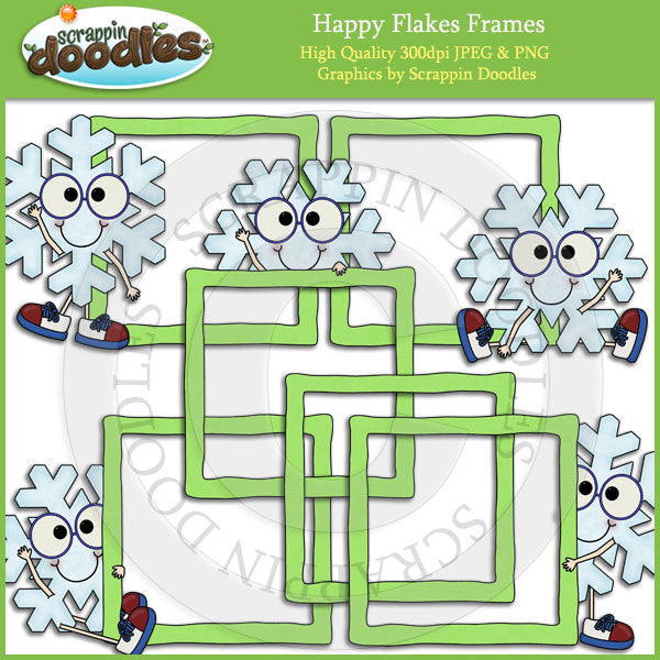Happy Flakes Frames Clip Art Download