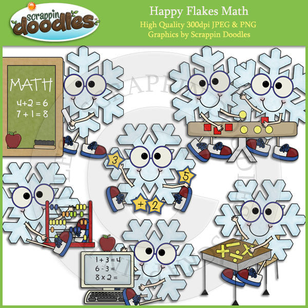 Happy Flakes Math Clip Art Download