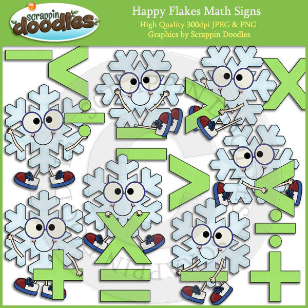 Happy Flakes Math Signs Clip Art Download