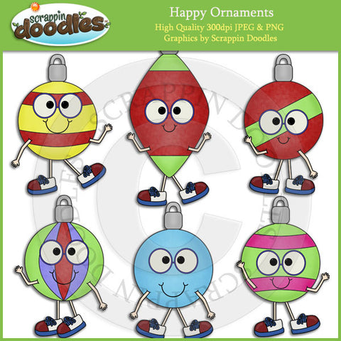 Happy Ornaments Clip Art Download