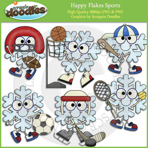 Happy Flakes Sports Clip Art Download