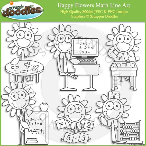 Happy Flowers Math