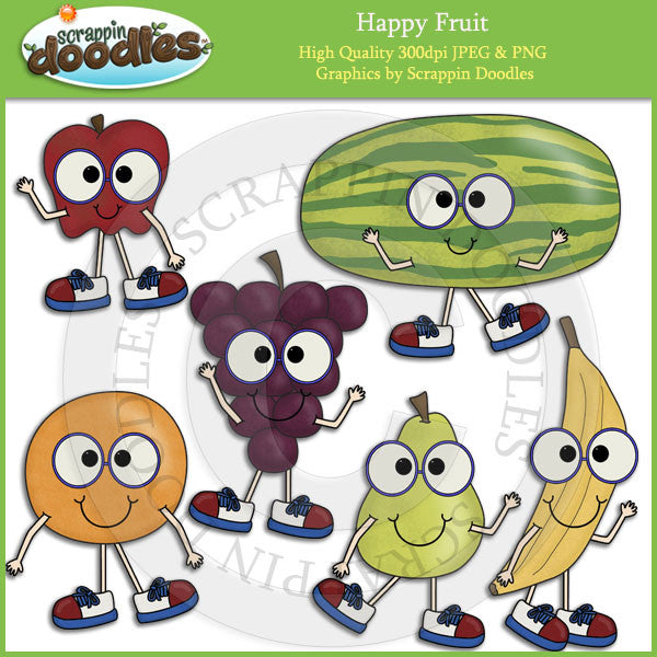 Happy Fruit Clip Art Download