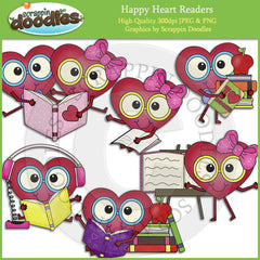 Happy Heart Readers Clip Art Download