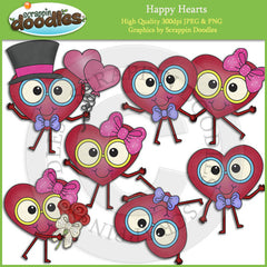 Happy Hearts Clip Art Download