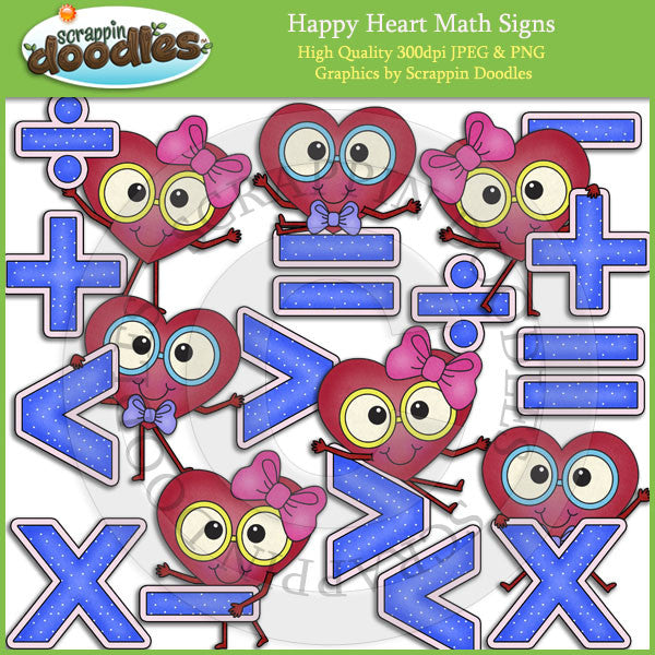 Happy Heart Math Signs Clip Art Download