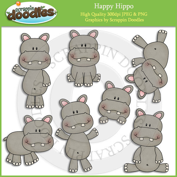 Happy Hippo Clip Art Download