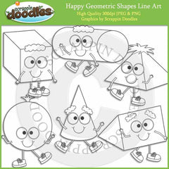 Happy Geometric Shapes