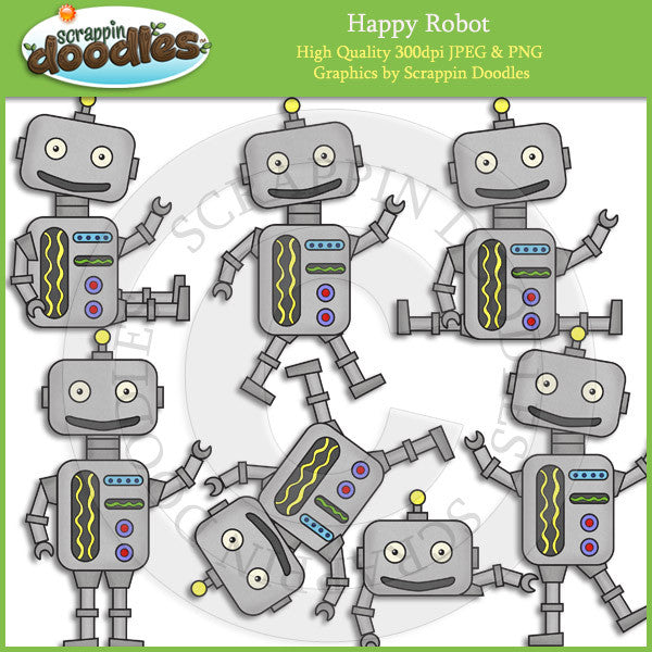 Happy Robot Clip Art Download