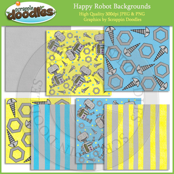 Happy Robot Backgrounds Download