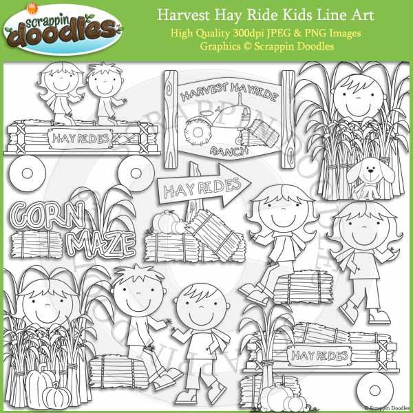Harvest Hayride Kids