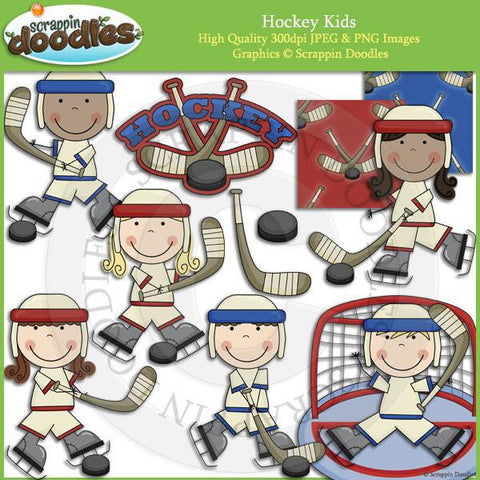 Hockey Kids Clip Art Download