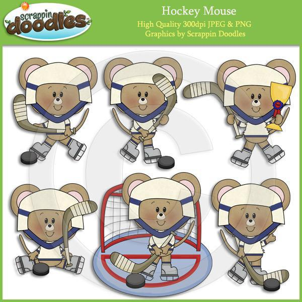 Hockey Mouse Clip Art Download