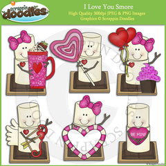 I Love You Smore Clip Art