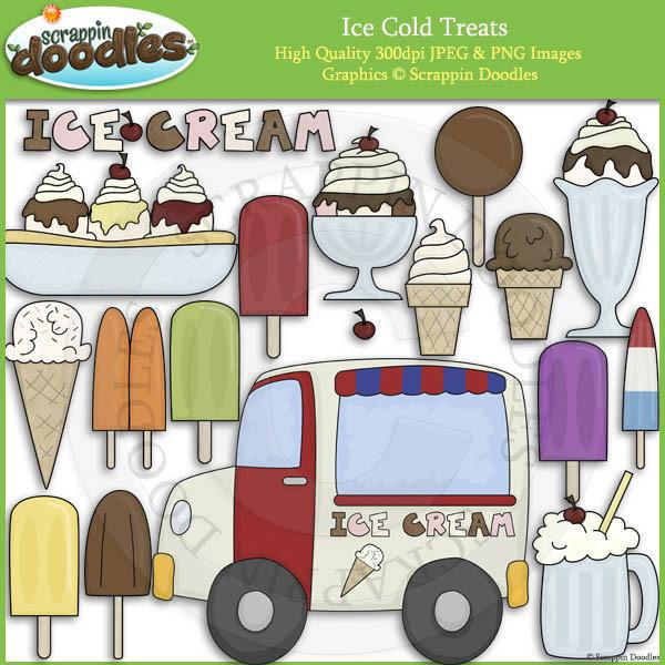 Ice Cold Treats Clip Art Download