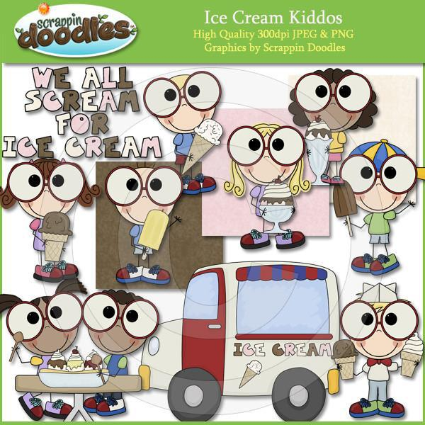 Ice Cream Kiddos Clip Art Download