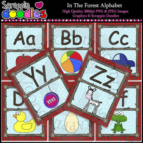 In The Forest Alphabet Letter Size Posters