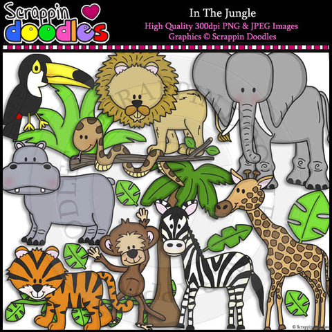 In The Jungle Clip Art & Line Art