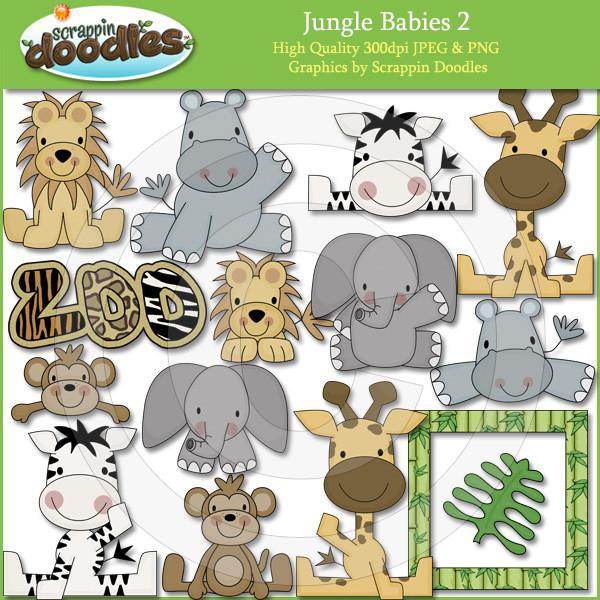 Jungle Babies 2 Clip Art Download