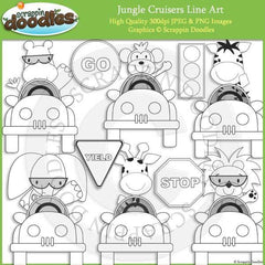 Jungle Cruisers Clip Art