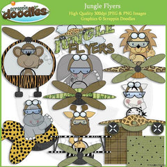 Jungle Flyers Clip Art Download