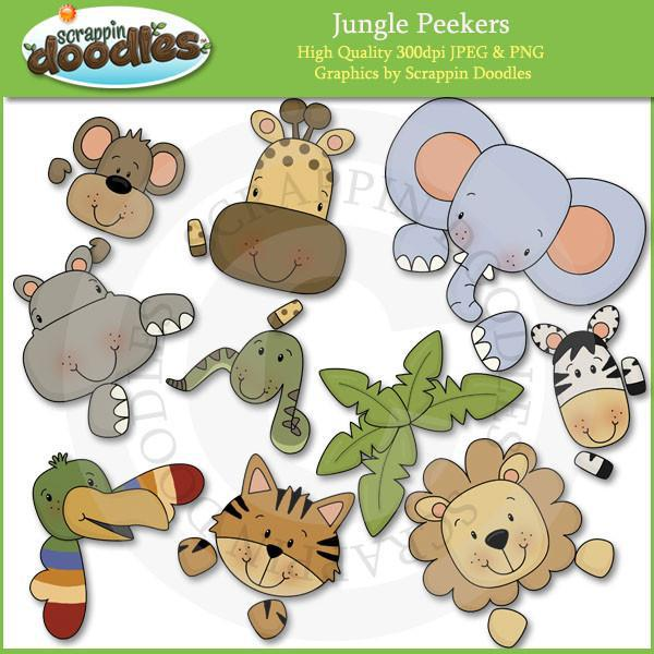 Jungle Peekers Clip Art
