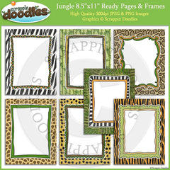 Jungle 8 1/2 x 11 Ready Pages/Cover Pages & Frames